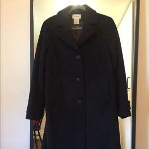 Long black LL. Bean Coat